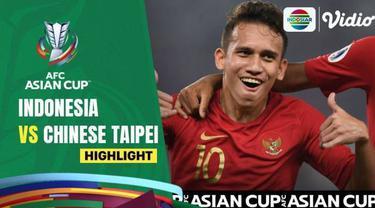 berita video highlights gol David Rumakiek saat Timnas Indonesia unggul sementara atas Chinese Taipei di babak pertama Kualifikasi Piala Asia 2023, Kamis (7/10/21)