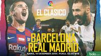 La Liga - Barcelona Vs Real Madrid - Head to Head (Bola.com/Adreanus Titus)