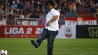 Budihardjo Thalib, pelatih Persik di Liga 2 2019. (Bola.com/Gatot Susetyo)