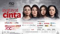 Miniposter Ayat Ayat Cinta In Concert With Live Orchestra - Colours Of Love. [foto: Media Release]