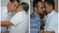 Dalam perjalanan sowan ke tokoh Islam, Jokowi bertemu JK. Kemudian bersua Samad di tempat berbeda (Herman Zakaria/Liputan6.com)