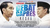 Live Streaming Debat Kedua Capres 2019.(Www.sulawesita.com)
