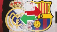 Logo Real Madrid dan Barcelona. (Bola.com/Dody Iryawan)