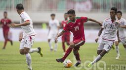 Gol cantik Saddil Ramdani ke gawang Filipina membuat Indonesia menang telak dengan skor 3-0 pada fase Grup SEA Games 2017, Kuala Lumpur . (Bola.com/Vitalis Yogi Trisna)