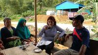 Menteri Kelautan dan Perikanan Susi Pudjiastuti mengunjungi Natuna, Kepulauan Riau pada Senin (29/1/2018). (LIputan6.com/Arthur Gideon)