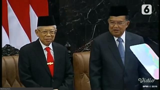 Wakil Presiden Ma'ruf Amin dan Jusuf Kalla.