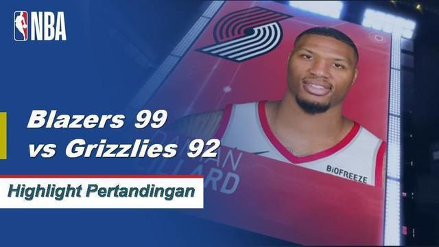 Damian Lillard mencetak 24 poin saat Blazers menyerahkan Grizzlies kekalahan beruntun keempat mereka.
