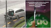 Momen Saat Driver Ojek Online Lupa Bawa Jas Hujan Ini Bikin Senyum-Senyum (sumber:instagram/@newdramaojol.id)