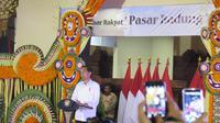 Presiden Joko Widodo atau Jokowi meresmikan Pasar Badung di Bali. (Liputan6.com/ Lizsa Egeham).