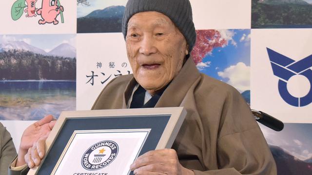 Masazo Nonaka, pria tertua di dunia meninggal pada usia 113 tahun (AP Photo)