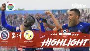 Laga lanjutan Shopee Liga 1, Arema FC VS Barito Putera FC berakhir dengan skor 2-1 #shopeeliga1