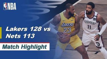 Berita video highlights pertandingan kompetisi basket NBA antara Los Angeles Lakers vs Brooklyn Nets.
