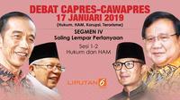 Segmen IV Debat Perdana Capres-Cawapres 2019.(Www.sulawesita.com)