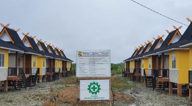 Kementerian Pekerjaan Umum dan Perumahan Rakyat (PUPR) menyelesaikan pembangunan 30 unit rumah khusus (rusus) siap huni untuk masyarakat berpendapatan rendah (MBR) di Kabupaten Rokan Hilir, Riau. Dok PUPR
