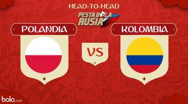 Berikut head to head Piala Dunia Rusia 2018 antara Polandia vs Kolombia dalam meraih poin perdana.