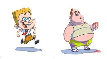 Ilustrasi 6 Tokoh Kartun SpongeBob SquarePants Versi Manusia Ini Kreatif Banget