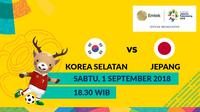 Final Sepak Bola Asian Games 2018 Korea Selatan Vs Jepang (Bola.com/Adreanus Titus)