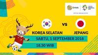 Final Sepak Bola Asian Games 2018 Korea Selatan Vs Jepang (Bola.com/Adreanus Titus)