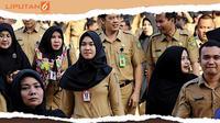 Banner Infografis Kenaikan Gaji PNS 10 Tahun Terakhir. (Liputan6.com/Triyasni)