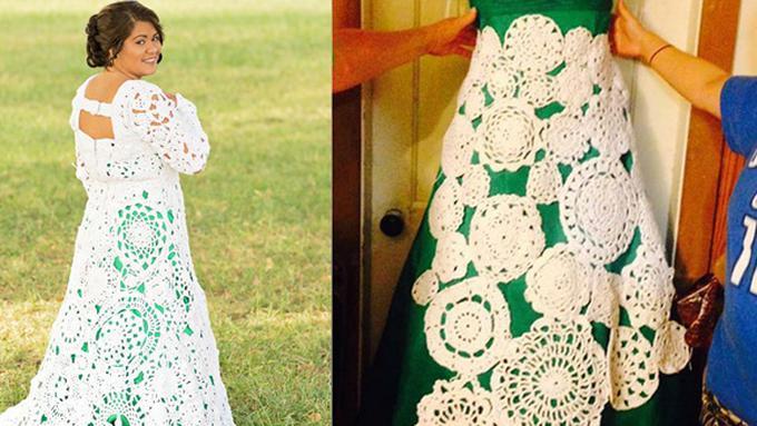 Habiskan 8 Bulan Merajut Wanita Ini Dapatkan Gaun Mewah Impiannya