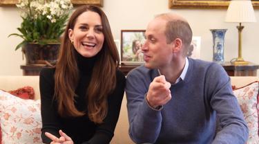 Kate Middleton dan Pangeran  William. (Tangkapan layar YouTube/ The Duke and Duchess of Cambridge)