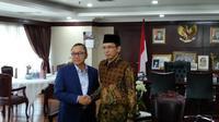 Ketua MPR Zulkifli Hasan bertemu Gubernur Nusa Tenggara Barat, Tuan Guru Bajang (TGB) Zainul Majdi, Rabu (9/5/2018). (Merdeka.com/Ahda Bayhaqi)