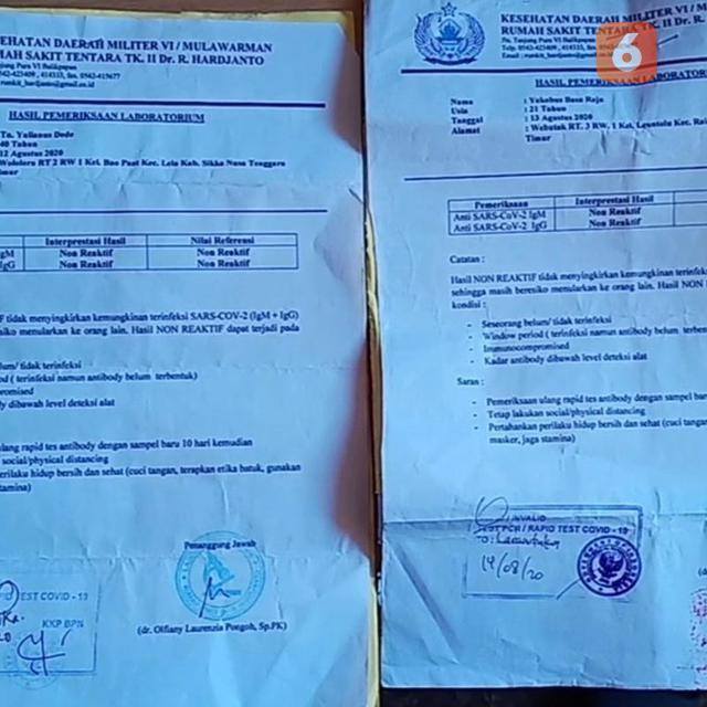Ratusan Pelaku Perjalanan Di Sikka Diduga Palsukan Surat Rapid Test Regional Liputan6 Com