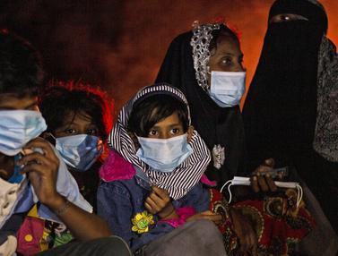 FOTO: 81 Pengungsi Rohingya Terdampar di Pulau Idaman Aceh