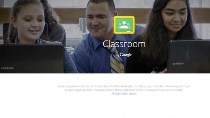 Tampilan laman Google Classroom