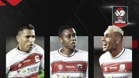 Beto Goncalves, Hugo Gomes dan Jaimerson Xavier. (Bola.com/Dody Iryawan)