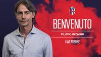 Filippo Inzaghi akan menjadi pelatih Bologna mulai musim 2018-19. (doc. Bologna)