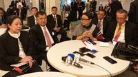 Menko PMK Puan Maharani bersama Wakil Presiden Jusuf Kalla dan Menteri Luar Negeri Retno Marsudi menghadiri High Level Meeting on Global Peace di Markas Besar PBB di New York.