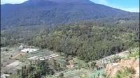 Penampakan kepulan Asap kebakaran di kawasan Gua Walet Gunung Ciremai Jawa Barat. Foto (Liputan6.com / Panji Prayitno)