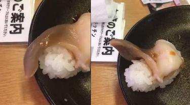 Viral, Daging Sushi Pembeli Ini Menggeliat Saat Akan Dimakan