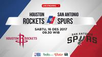 Jadwal NBA, Houston Rockets Vs San Antonio Spurs. (Bola.com/Dody Iryawan)