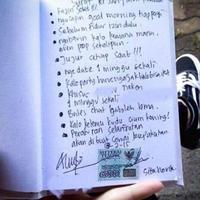 Kira-kira siapakah anak yang buat surat perjanjian pacaran ini dan apa sajakah isinya? (Facebook/Kementerian Humor Indonesia)