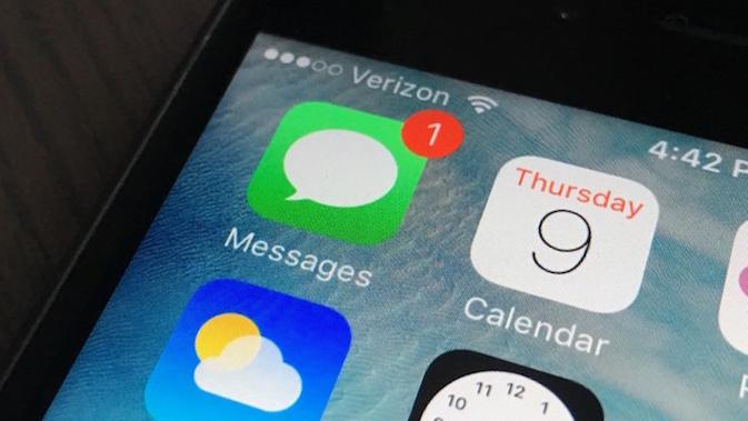 Ilustrasi iMessage di iOS 9