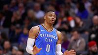 Bintang NBA yang membela Oklahoma City Thunder, Russell Westbrook. (AFP/Ezra Shaw)