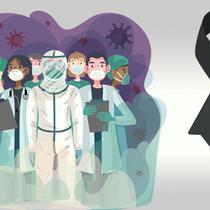 Banner Duka Dokter dan Tenaga Kesehatan (Liputan6.com/Triyasni)