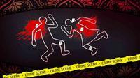 Ilustrasi pembunuhan pasutri. Ilustrasi: Dwiangga Perwira/Kriminologi.id