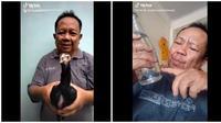 Viral Video Bapak Muslik Main Tik Tok, Ini 6 Aksinya yang Bikin Ngakak (sumber:Twitter/@Aldhiawolf)
