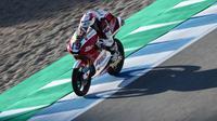 Andi Gilang saat mengikuti Moto3 Jerez 2021. (Dokumentasi Idemitsu Honda Team Asia)
