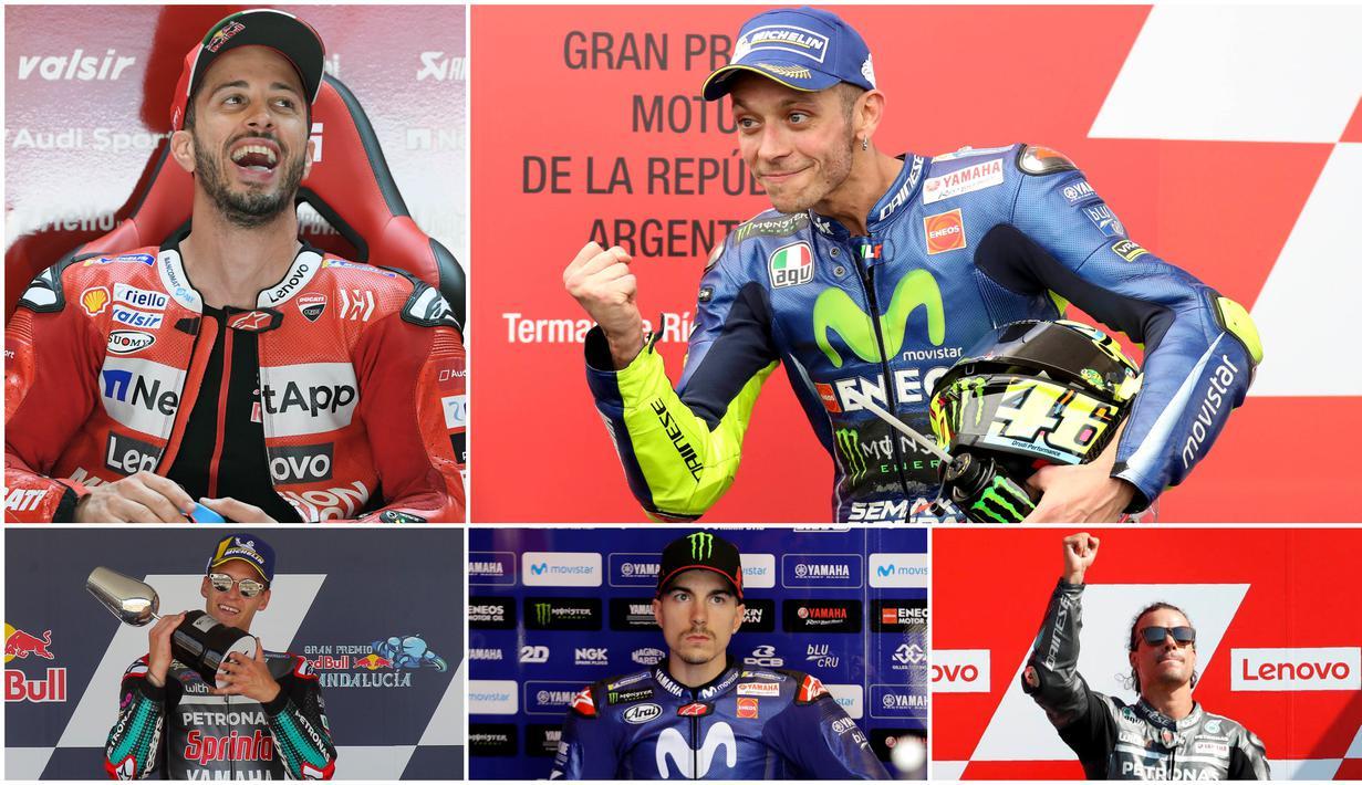 Kegagalan Fabio Quartararo di MotoGP San Marino membuat posisi nya di puncak klasemen sementara MotoGP 2020 dikudeta Andrea Dovizioso. Berikut daftar klasemen sementara MotoGP 2020.