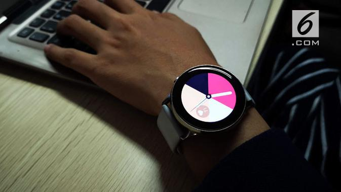 Samsung Galaxy Watch Active. (Liputan6.com/ Yuslianson)