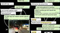 6 Chat Pacar Ketahuan Selingkuh Ini Bikin Nyesek (sumber: Twitter.com/flutulang__)