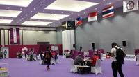 Pertandingan bridge Asian Games 2018 di Jiexpo Kemayoran, Jakarta, Selasa (21/8/2018). (Bawono/Liputan6.com)