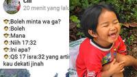 Status Facebok 5 Bocah Ini Bijak Banget, Jadi Panutan (sumber: Instagram.com/awreceh.id)