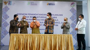 PT Perusahaan Pengelola Aset (PPA), PT Bank Muamalat Indonesia dan Badan Pengelola Keuangan Haji (BPKH) menandatangani Master Restructuring Agreement (MRA).