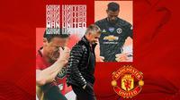 Manchester United - Ole Gunnar Solskjaer dan 2 Pemain Manchester United (Bola.com/Adreanus Titus)