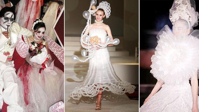 9 Gaun Pengantin Paling Aneh Di Dunia Fashion Fimela Com